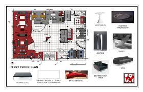 hotel lobby furniture floor plan