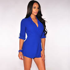 miami hot styles 2016 hot miami styles black blue trench rompers womens jumpsuit