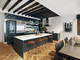 surprising kitchen design with table in middle images simple