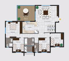 3d Office Floor Plan 2d Furniture Floorplan Top Down View Style 2 Psd 3d Model 2 2d