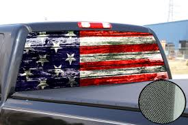 Us Flag Decal Usa American Flag Window Tint Decal Graphic Car Truck F150 Ram