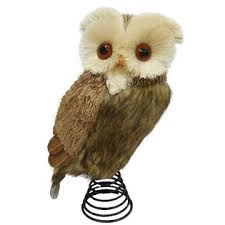 owl christmas smith brown belly owl christmas tree topper