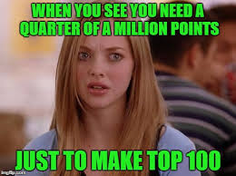 Top 100 Internet Meme - when you see you need a quarter of a million points just to make
