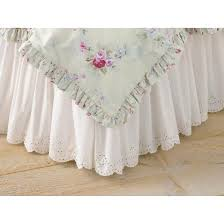 Shabby Chic Skirts by White Eyelet Bedskirt Simply Shabby Chic Target