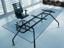 Glass Office Desk Progetto 1 Office Desk By B U0026b Italia Project Design Monica Armani