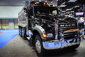 mack dump truck mack adds 13 and 14 speed low speed reduction mdrive hd options