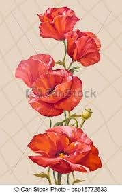 poppies flowers painting card with poppies flowers vectors search clip