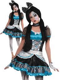girls broken doll costume teen halloween fancy dress kids