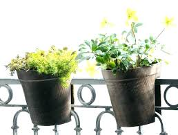 small planter planters that hang over railing small planters balcony railing