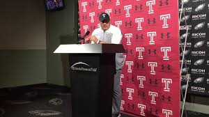 geoff collins temple uconn postgame youtube