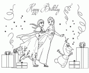 frozen sisters birthday colouring coloring pages printable