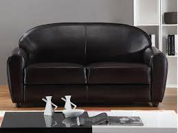 canapé 2 et 3 places cuir canapé et fauteuil en cuir bycast ii chocolat