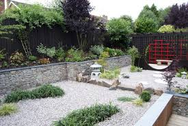 decorating wonderful japanese garden design with small rock also