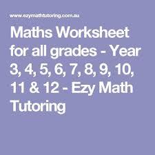 die besten 25 year 7 maths worksheets ideen auf pinterest