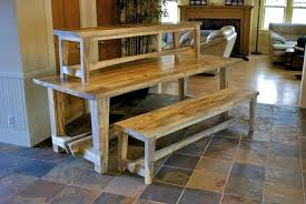 Farm Benches - ladder truss farm table with benches by lightfootltd