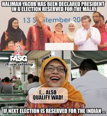 Malay Meme - congrats to halimah yacob as being fabrications about singapore