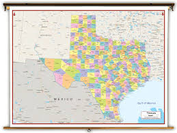 Colorado Political Map by Texas State Political Classroom Map From Academia Maps