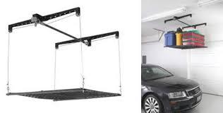 Bicycle Ceiling Hoist by Canoe Hoist Garage Ceiling Storage Overhead Garage Storage