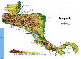 United States Topographic Map by Landscape Of Central America