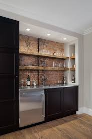 Floating Bar Cabinet Bar Cabinet Home Bar Rustic With Floating Shelves Reclaimed