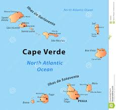 Cabo Map Verde Map Clipart