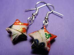 origami earrings origami etsy notebook