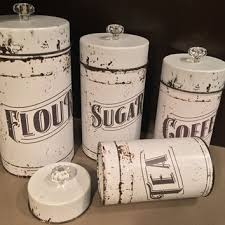 vintage kitchen canister vintage kitchen canisters 4 set from everychicway on