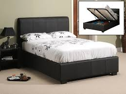 Leather Ottoman Bed Top King Size Ottoman Bed Frame Oregon Ottoman Matte Black At