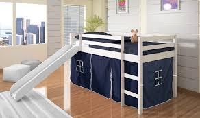 Bedroom Donco Kids Girl Bunk Beds Twin Over Full Kids Loft Bed - Twin over full bunk bed with slide