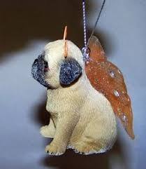 3 pug ornament white gifts for the pug lover