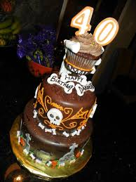 plumeria cake studio halloween 40th birthday cake