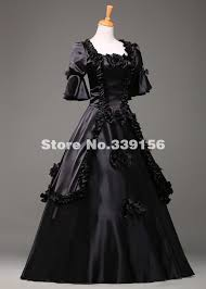 black gothic halloween party dress for women medieval fantasy