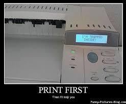 Printer Meme - trapped inside a printer