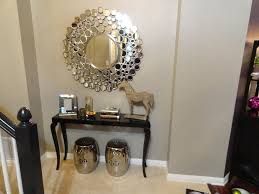 Entryway Table Decor Popular Entry Table Decorations With Round Foyer Tables Decorating