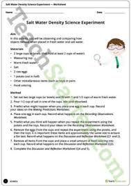 science experiments teaching resources u2013 teach starter