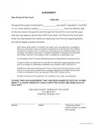 texas child support table 17 awesome child support agreement letter sle free images