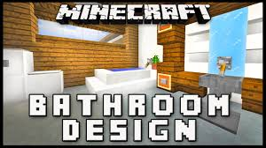 minecraft bathroom designs minecraft how to make a modern bathroom design house build ep