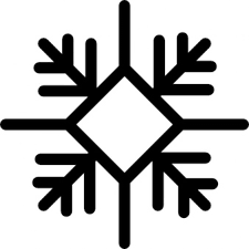 snowflake outline with diamond shape icons free download
