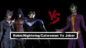 char swaps batman arkham city robin nightwing u0026 catwoman vs