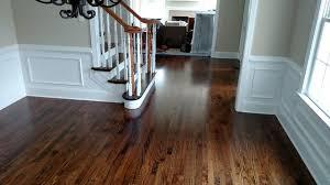 oak hardwood flooring with medium brown stain