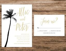 palm tree wedding invitations palm tree wedding invitation palm springs by alexanelsonprints