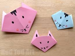 Paper Crafts - easy origami cats paper crafts for ted s