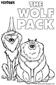 The Wolf Pack From Movie Storks Coloring Pages Printable Wolf Pack Coloring Pages