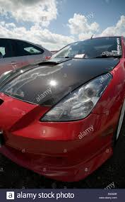toyota fast car carbon fiber fibre hood bonnet car toyota celica cars light weight