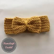 crocheted headbands i like big bows crochet bow headwrap free pattern