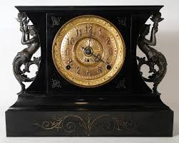 Pewter Mantle Clock Antique Clocks Antique Price Guide