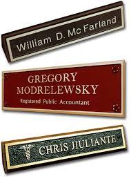 desk u0026 door nameplates matthews bronze international