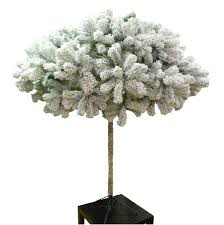 6ft frosted umbrella christmas tree flocked pine artificial