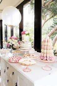 pretty in pink baptism dessert table via kara u0027s party ideas