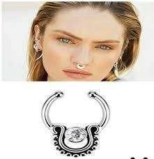 aliexpress nose rings images Piercing fake septum crystal fake septum ring fake septum nose jpg